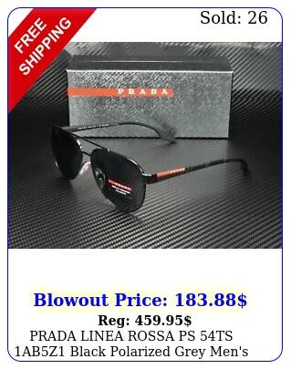 prada linea rossa ps ts abz black polarized grey men's sunglasse
