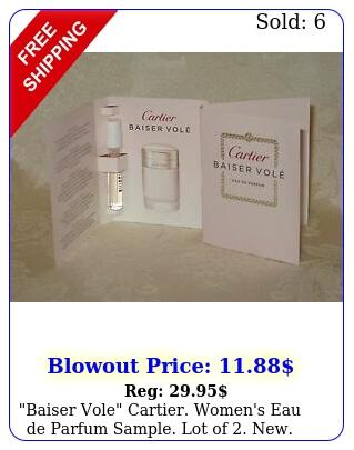 baiser vole cartier women's eau de parfum sample lot o