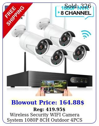 wireless security wifi camera system p ch outdoor pcs nvr cctv hd ir ca