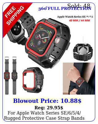 apple watch series se rugged protective case  strap bands mm m