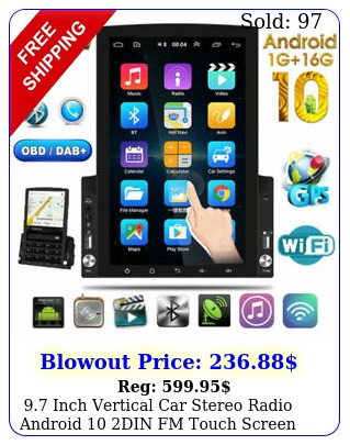 inch vertical car stereo radio android din fm touch screen gps bluetoot