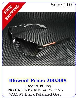 prada linea rossa ps ns axw black polarized grey gradient men's sunglasse