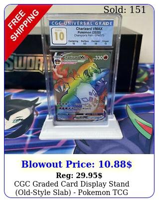 cgc graded card display stand oldstyle slab pokemon tcg yugioh magic sport