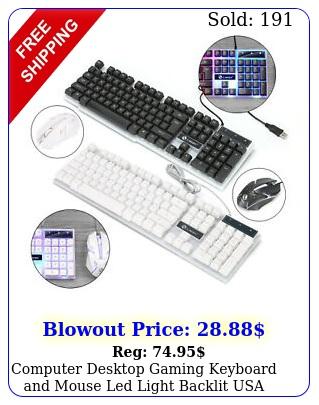 computer desktop gaming keyboard mouse led light backlit us