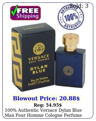 authentic versace dylan blue man pour homme cologne perfume edt oz m