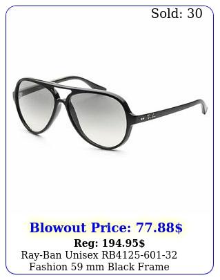 rayban unisex rb fashion mm black frame sunglasse