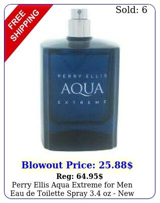 perry ellis aqua extreme men eau de toilette spray oz teste