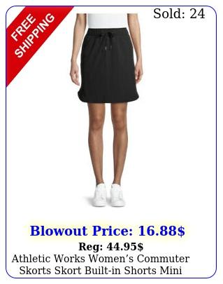 athletic works womens commuter skorts skort builtin shorts mini skirt pullo