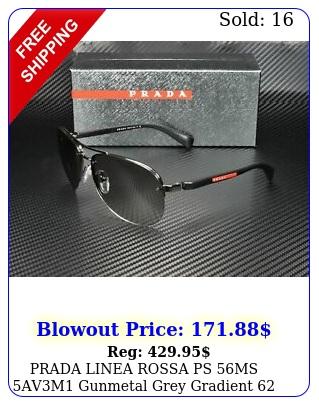 prada linea rossa ps ms avm gunmetal grey gradient mm men's sunglasse