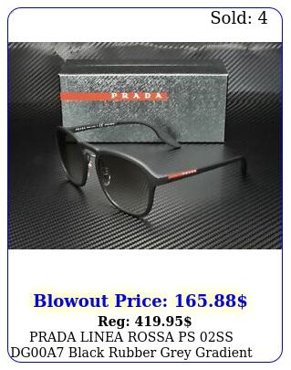 prada linea rossa ps ss dga black rubber grey gradient men's sunglasse