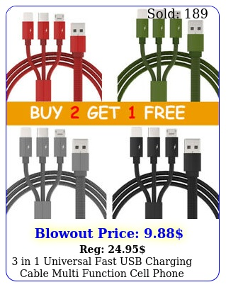 in universal fast usb charging cable multi function cell phone charger cor