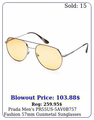 prada men's prusavb fashion mm gunmetal sunglasse