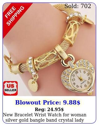 bracelet wrist watch woman silver gold bangle band crystal lady fashio