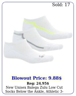 unisex balega zulu low cut socks below the ankle athletic pack l x