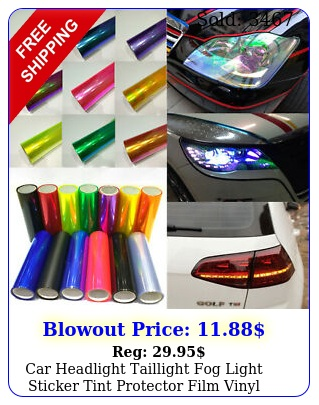 car headlight taillight fog light sticker tint protector film vinyl wrap decal