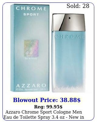 azzaro chrome sport cologne men eau de toilette spray oz in sealed bo