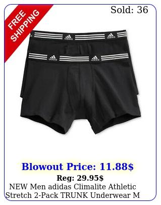men adidas climalite athletic stretch pack trunk underwear m l x
