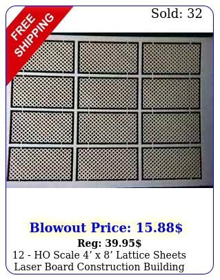 ho scale x lattice sheets laser board construction building materia
