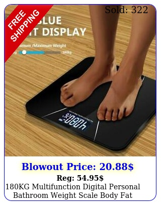 kg multifunction digital personal bathroom weight scale body fat keep fit us