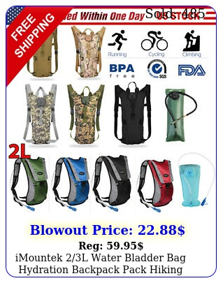 imountek l water bladder bag hydration backpack pack hiking camping cyclin