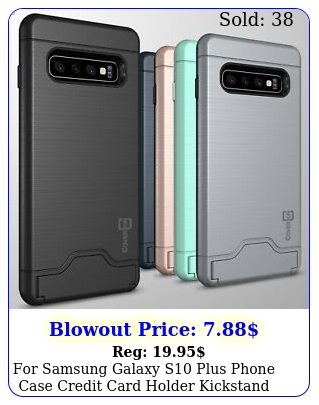 samsung galaxy s plus phone case credit card holder kickstand hard cove