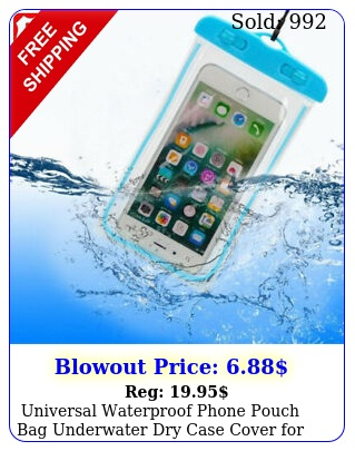 universal waterproof phone pouch bag underwater dry case cover iphone