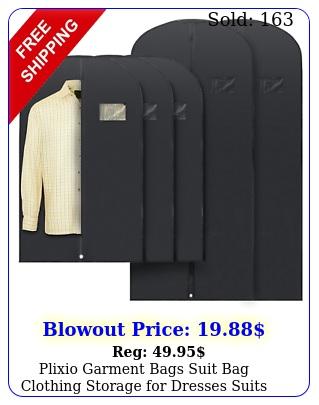 plixio garment bags suit bag clothing storage dresses suits longmedium siz