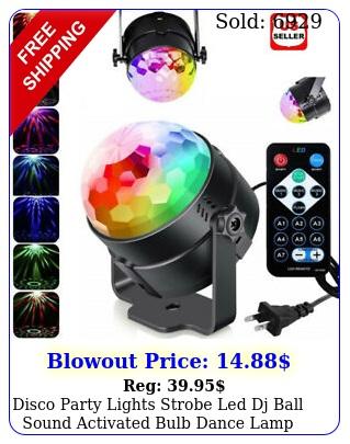disco party lights strobe led dj ball sound activated bulb dance lamp decoratio