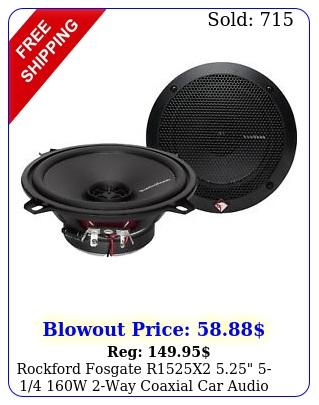 rockford fosgate rx  w way coaxial car audio speaker