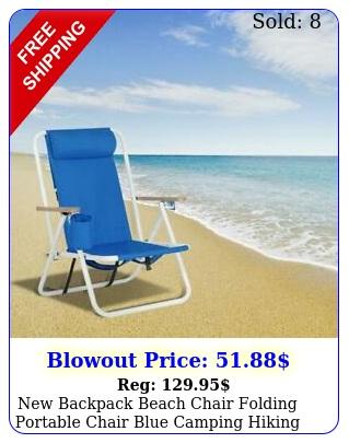 backpack beach chair folding portable chair blue camping hiking pinic chai