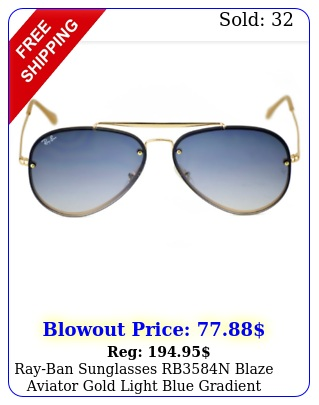 rayban sunglasses rbn blaze aviator gold light blue gradient unisex m