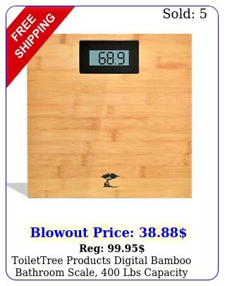 toilettree products digital bamboo bathroom scale lbs capacit
