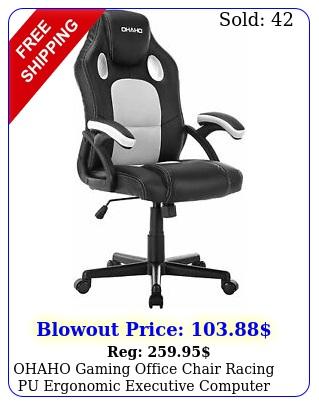 ohaho gaming office chair racing pu ergonomic executive computer desk chai