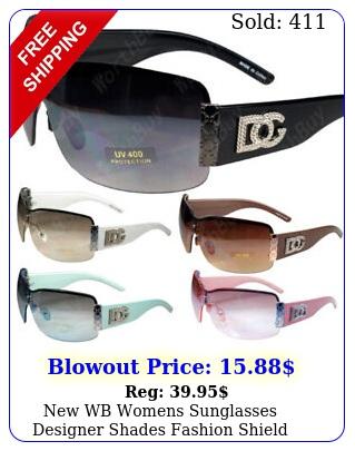 wb womens sunglasses designer shades fashion shield metal heart rimless wra