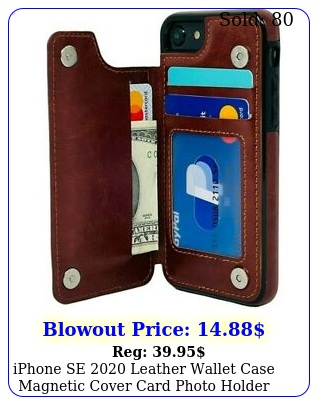 iphone se leather wallet case magnetic cover card photo holder appl