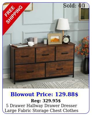 drawer hallway drawer dresser large fabric storage chest clothes organize