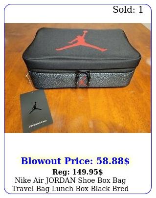 nike air jordan shoe bag travel bag lunch black bre