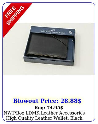 nwtbox ldmk leather accessories high quality leather wallet blac