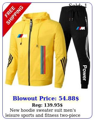 hoodie sweater suit men's leisure sports fitness twopiece sui