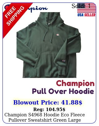 champion s hoodie eco fleece pullover sweatshirt green larg