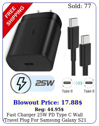 fast charger w pd type c wall travel plug samsung galaxy s g sultr