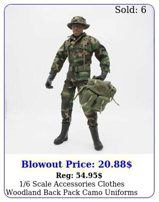 scale accessories clothes woodland back pack camo uniforms set action figur