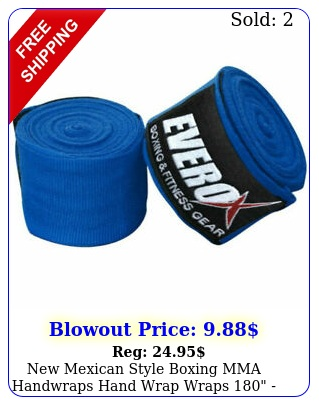 mexican style boxing mma handwraps hand wrap wraps  blu