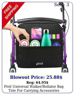 pivit universal walkerrollator bag tote carrying accessories mobility ai