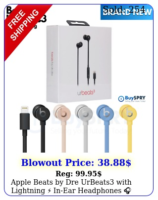 apple beats by dre urbeats with lightning inear headphones bran