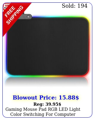 gaming mouse pad rgb led light color switching computer laptop colorful us