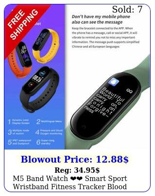 m band watch smart sport wristband fitness tracker blood pressure heart rat