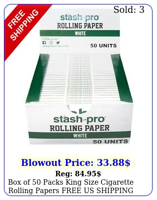 of packs king size cigarette rolling papers free us shippin