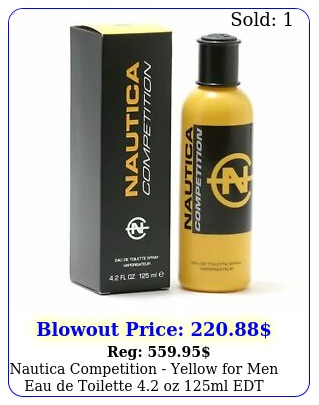 nautica competition yellow men eau de toilette oz ml edt spra