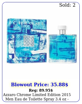 azzaro chrome limited edition men eau de toilette spray oz in bo